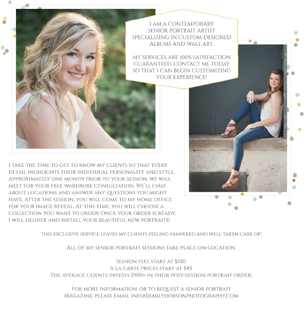Senior Portrait Sessions by Emily Dobson Photography