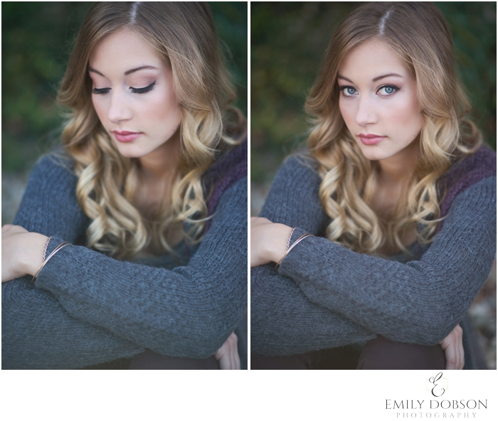 Jerseyville Community HS Senior with gorgeous curled blonde hair and flawless makeup